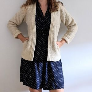 Vintage Cream Knit Cardigan Sweater